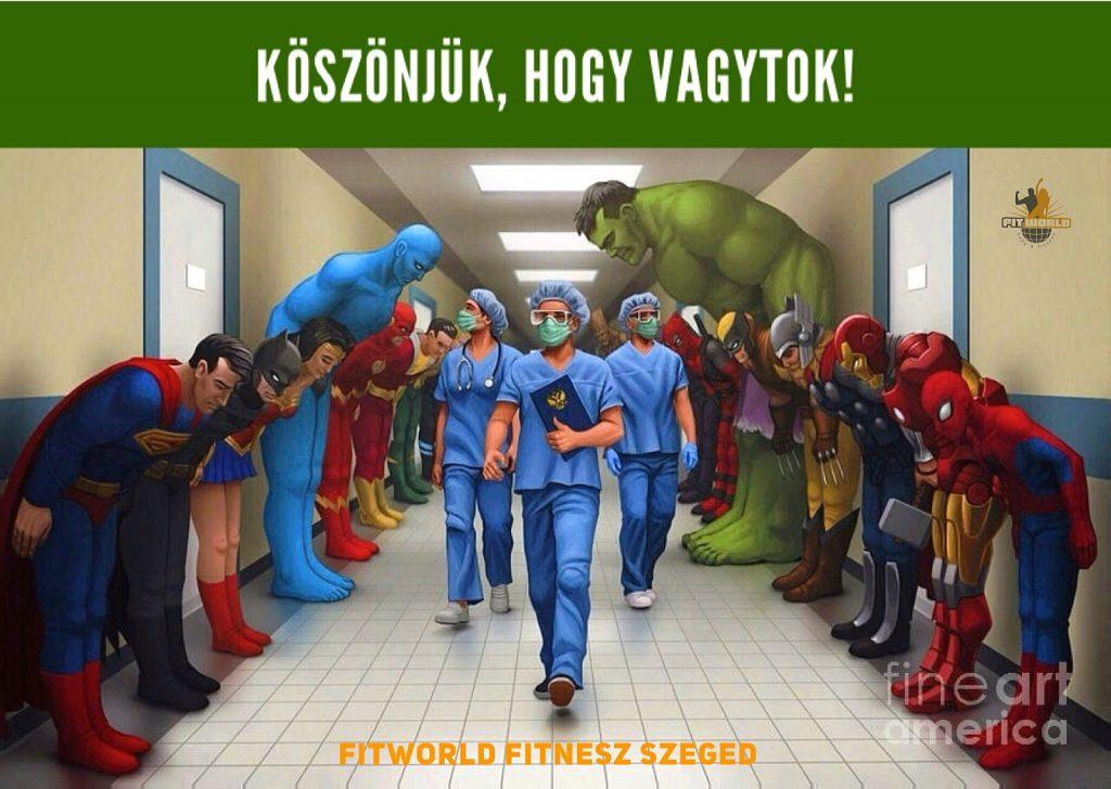 Járványkezelésben résztvevő egészségügyi dolgozóknak ajándék bérlet