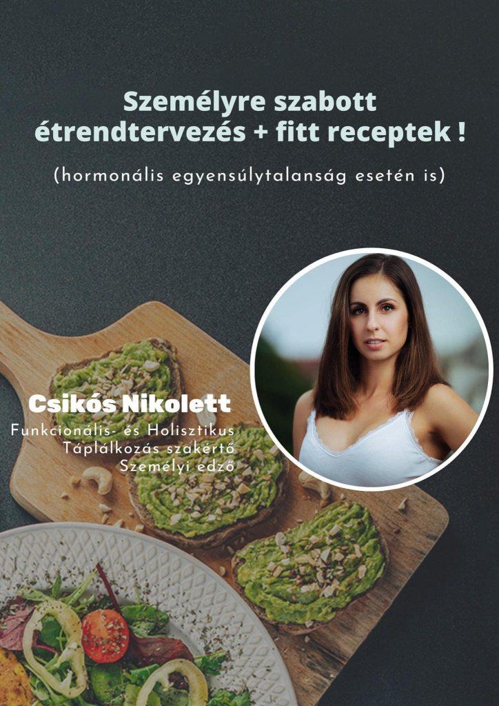 Személyre szabott étrendtervezés + fitt receptek